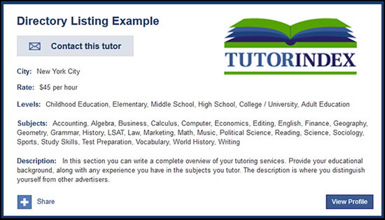 Tutor Advertising | Advertising for Tutors in The USA